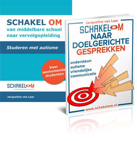 Covers Schakel om Met autisme | Schakel om NAAR autisme | Jacqueline van Laar